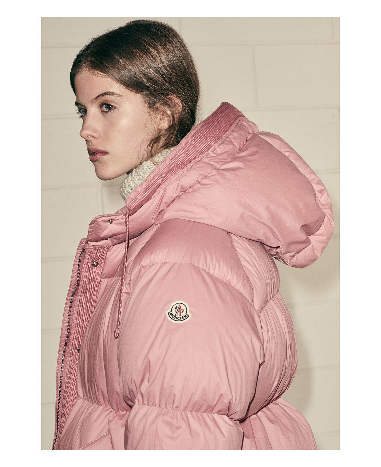 e21237eddb ... czech lyst moncler nerium down coat in pink aee6d ddce9