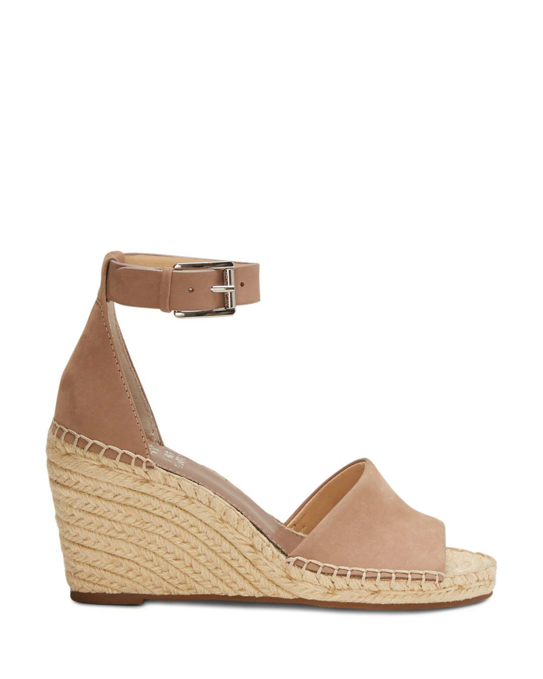 2975b8086c31 Lyst - Vince Camuto Women s Leera Suede Espadrille Wedge Sandals in Brown -  Save 41.41414141414141%