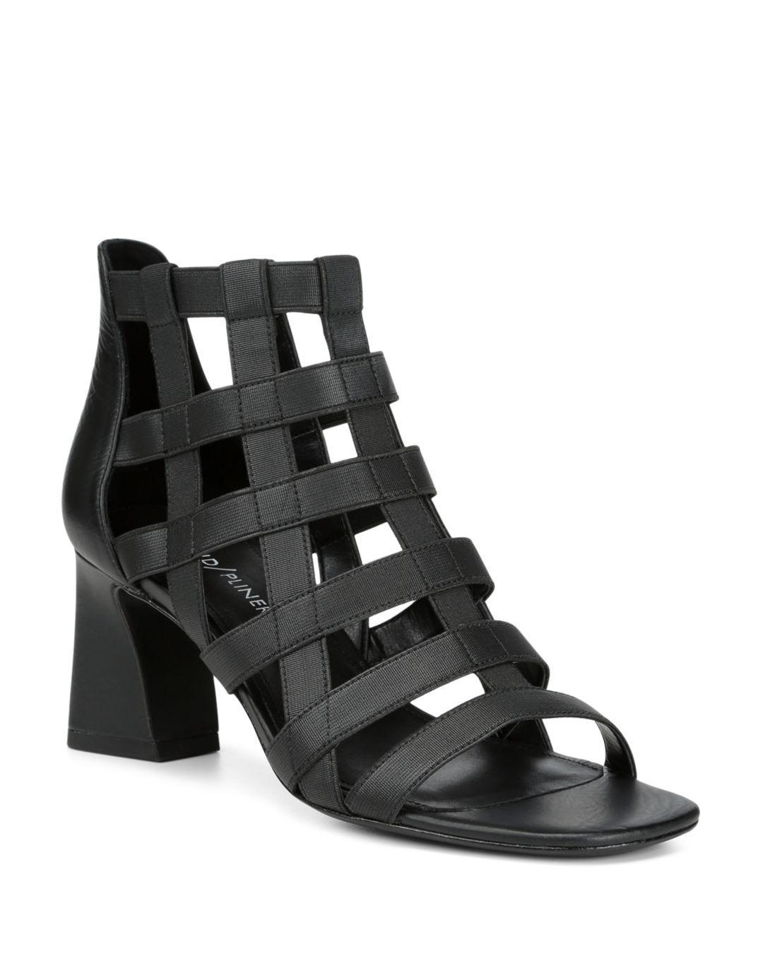 0ccf874e210 Lyst - Donald J Pliner Visto Strappy Sandal in Black - Save 30%