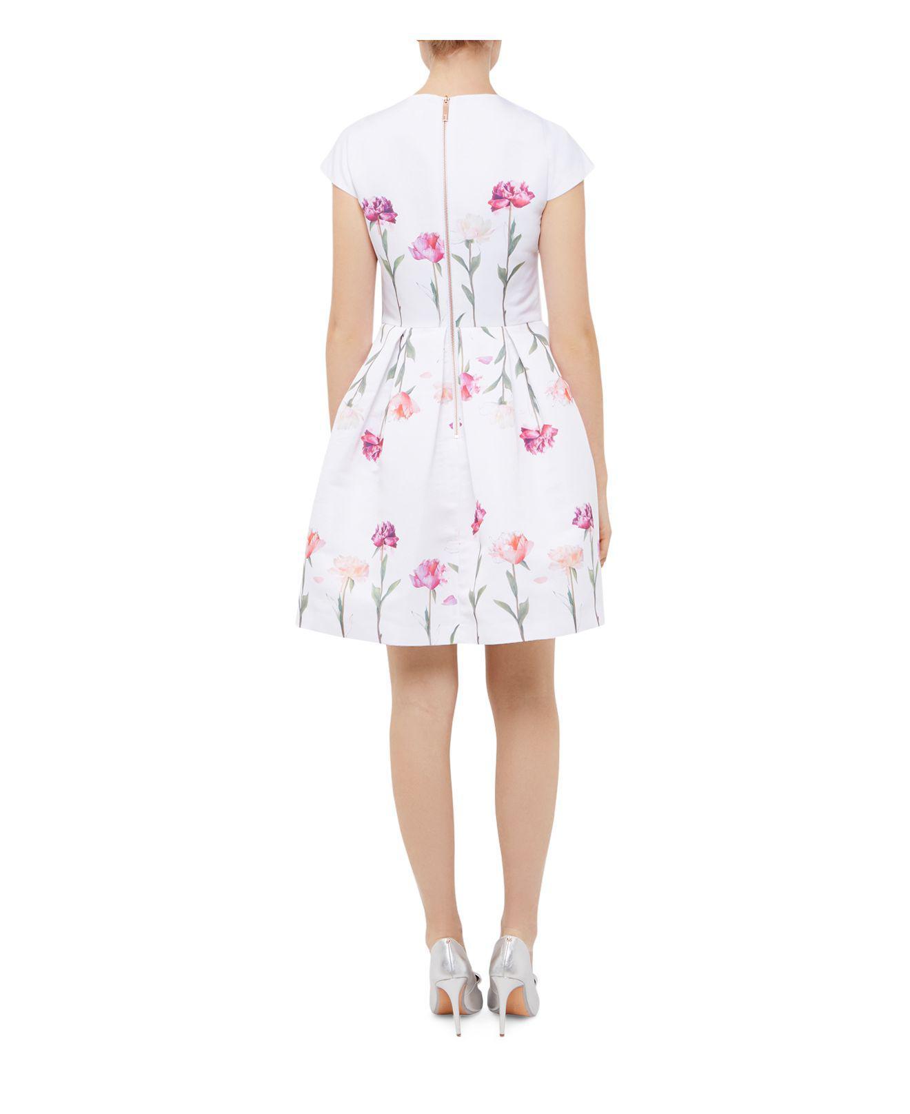 3985cc24a18b4 Lyst - Ted Baker Callila Sketchbook Dress in White