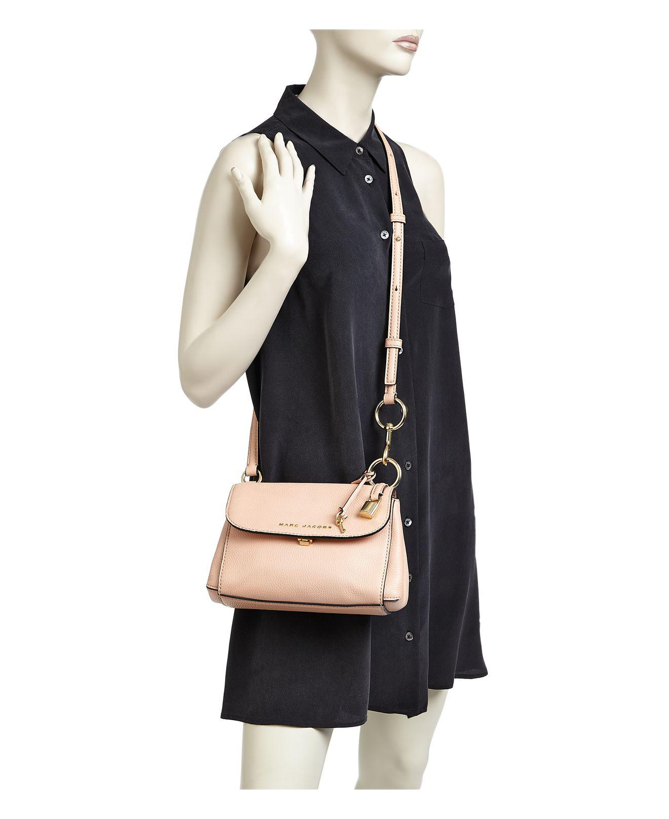 Marc Jacobs Mini Boho Grind Leather Crossbody In Pink Lyst