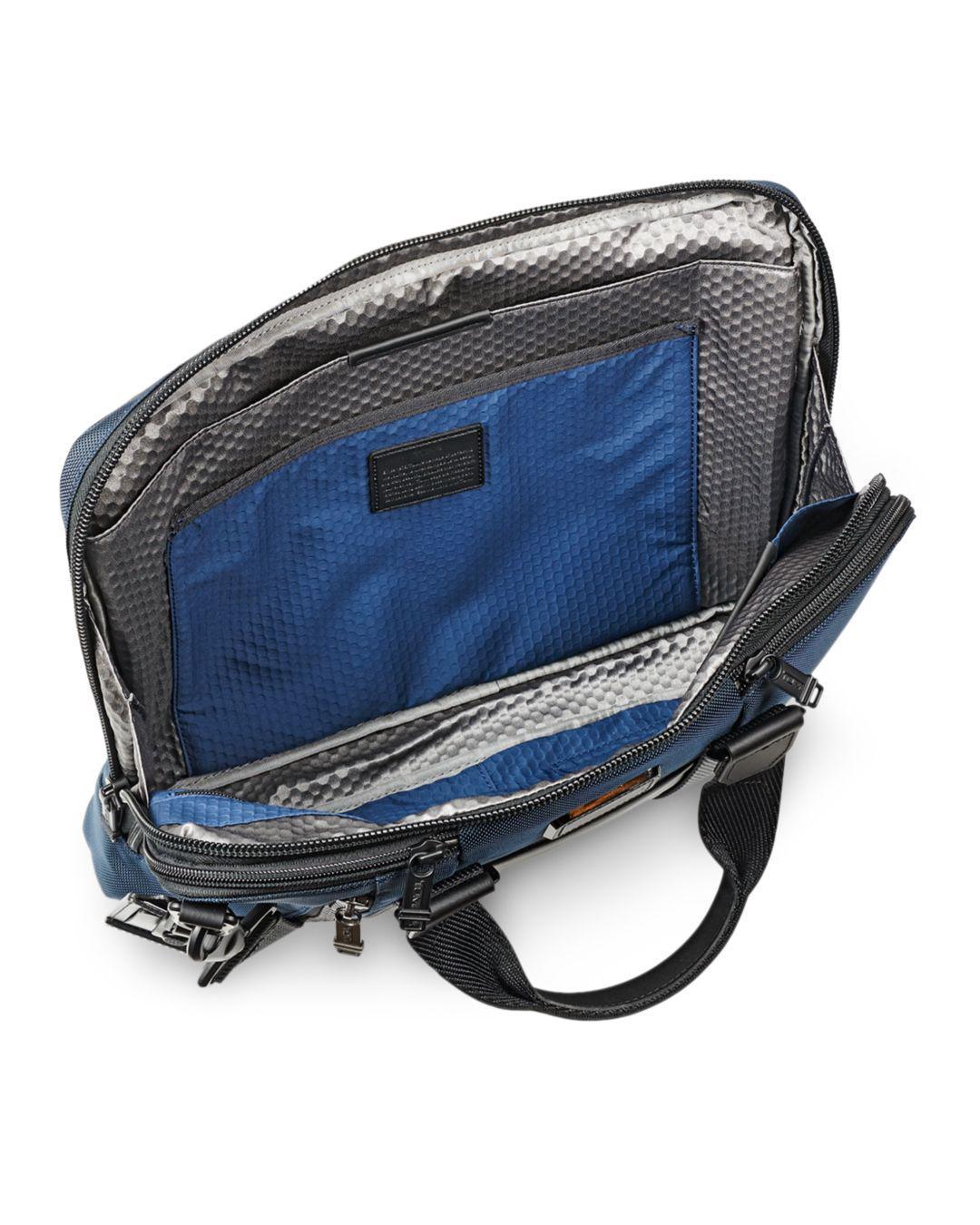 294cf3a43da1 Lyst - Tumi Aviano Slim Briefcase in Blue for Men
