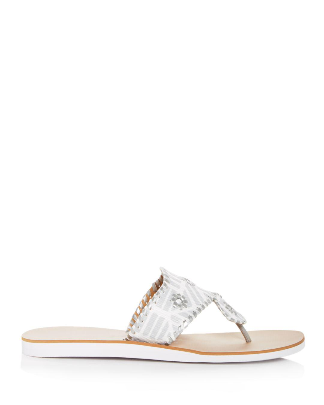 98d495f4c97 Lyst - Jack Rogers Women s Captiva Demi Wedge Thong Sandals in Metallic