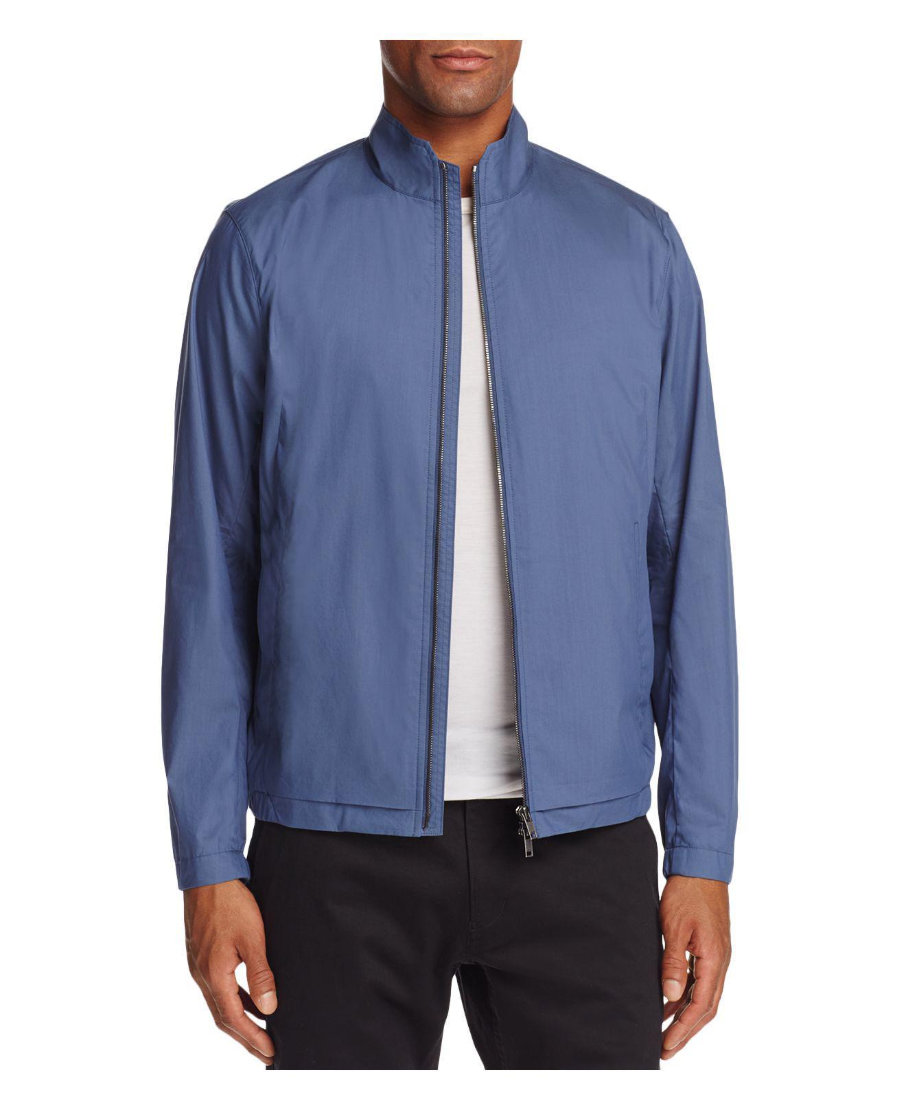 Lyst Theory Draftbreak Lightweight Jacket In Blue For Men