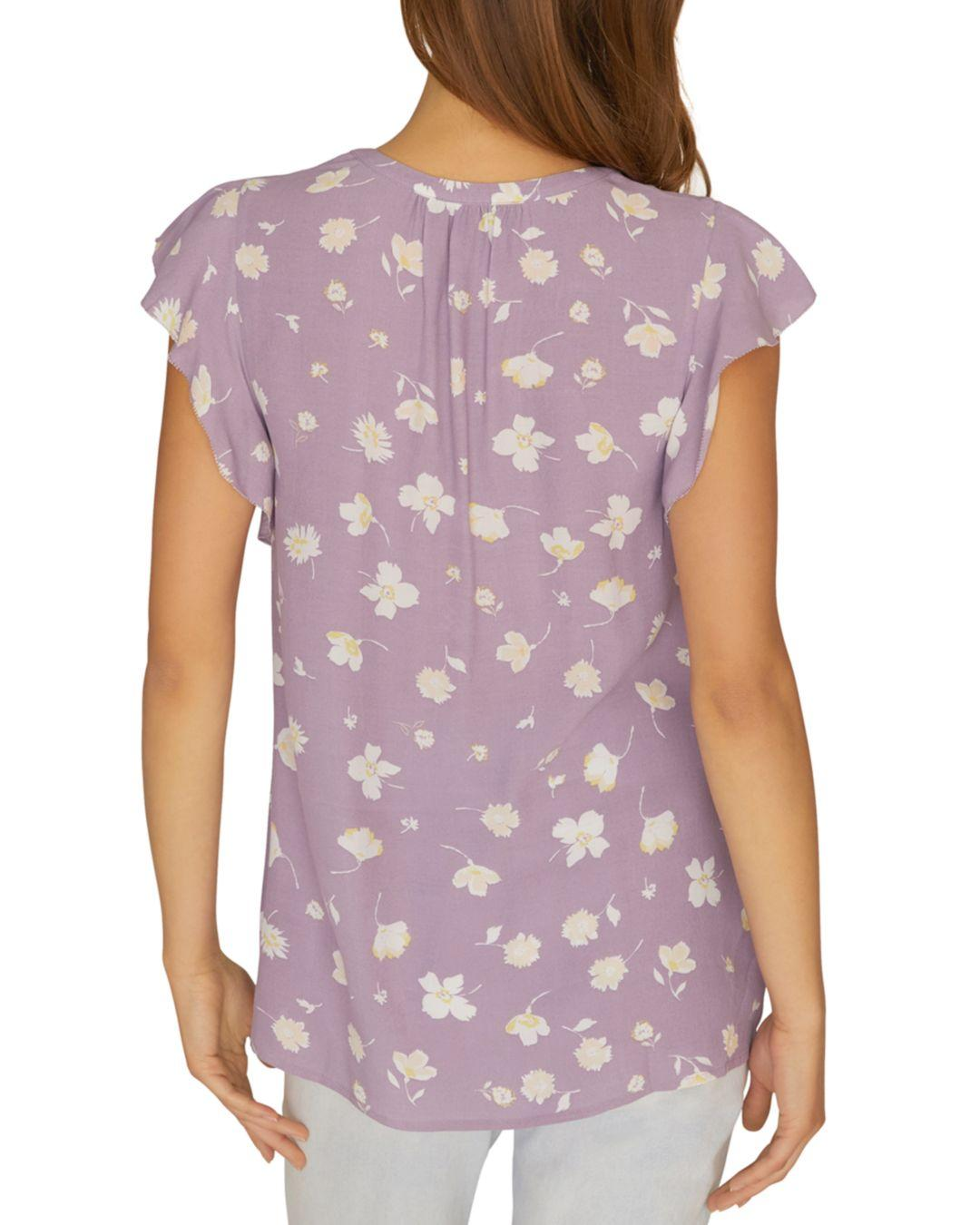 983ffb0c6b7 Lyst - Sanctuary Paloma Floral-print Top in Purple