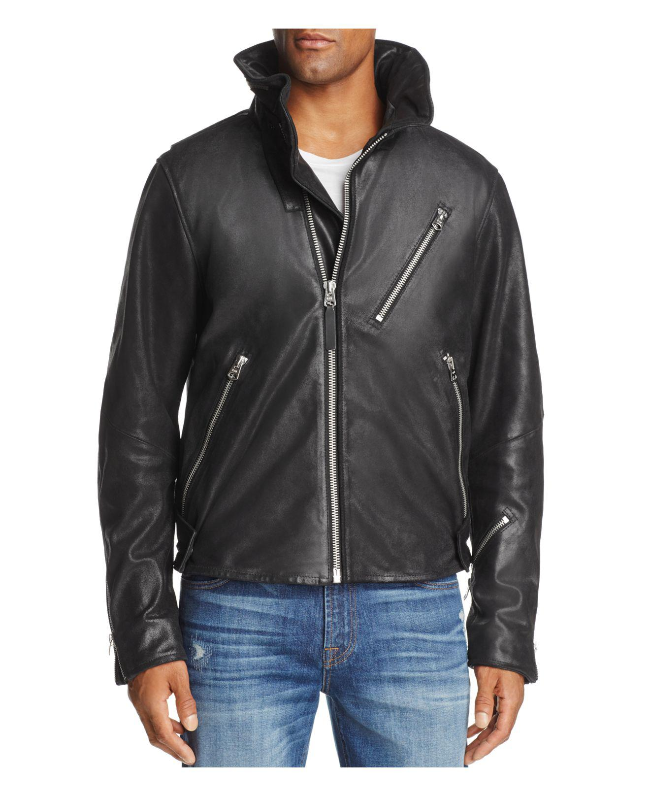 Guess Men S Leather Jacket