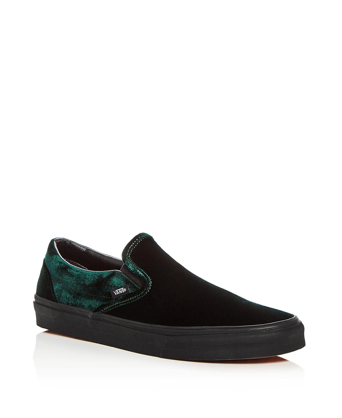 fc4379fa0653 Lyst - Vans Men s Classic Velvet Slip-on Sneakers in Green for Men