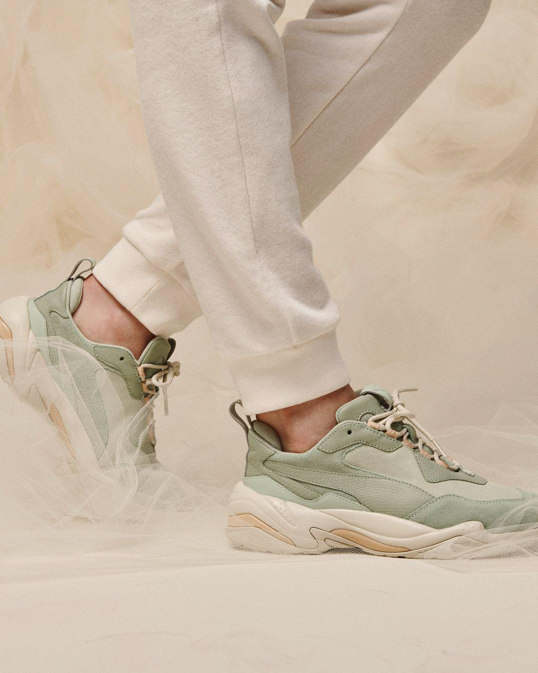 Lyst - PUMA Thunder Trainers in Green 2e819c2c6