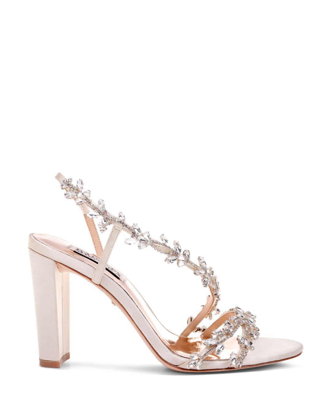 3f55d2085 Lyst - Badgley Mischka Women s Felda Crystal Embellished High-heel Sandals  in White