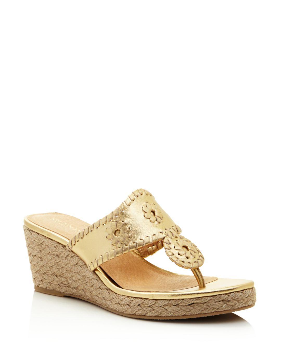 c960a5f8b Jack Rogers Women s Jacks Espadrille Wedge Sandals in Metallic - Lyst
