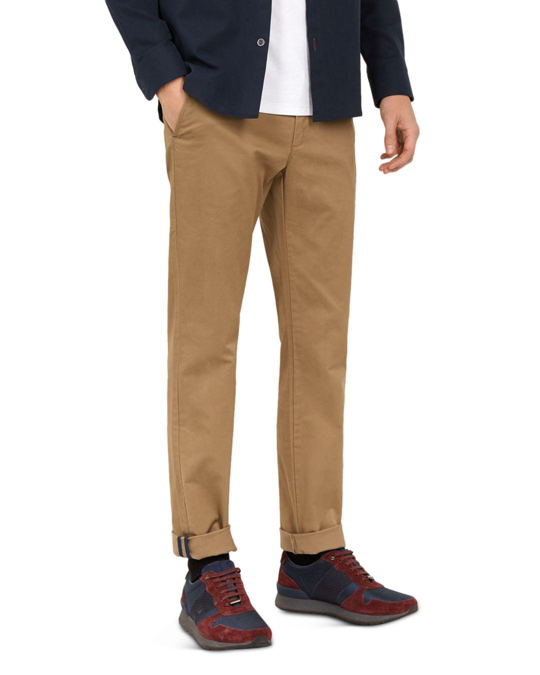 32510b9ce Lyst - Ted Baker Seenchi Slim Fit Chinos in Natural for Men