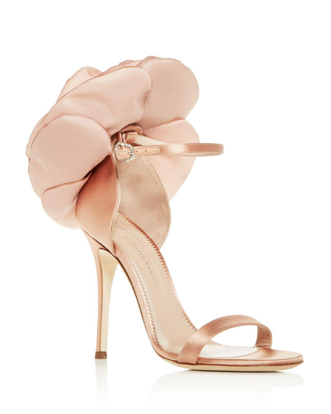 108b632317e Lyst - Giuseppe Zanotti Women s Flower-embellished High-heel Sandals