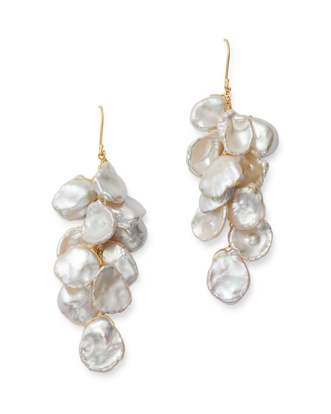 3b3acc79a Bloomingdale's Cultured Freshwater Keshi Pearl Cluster Drop Earrings ...