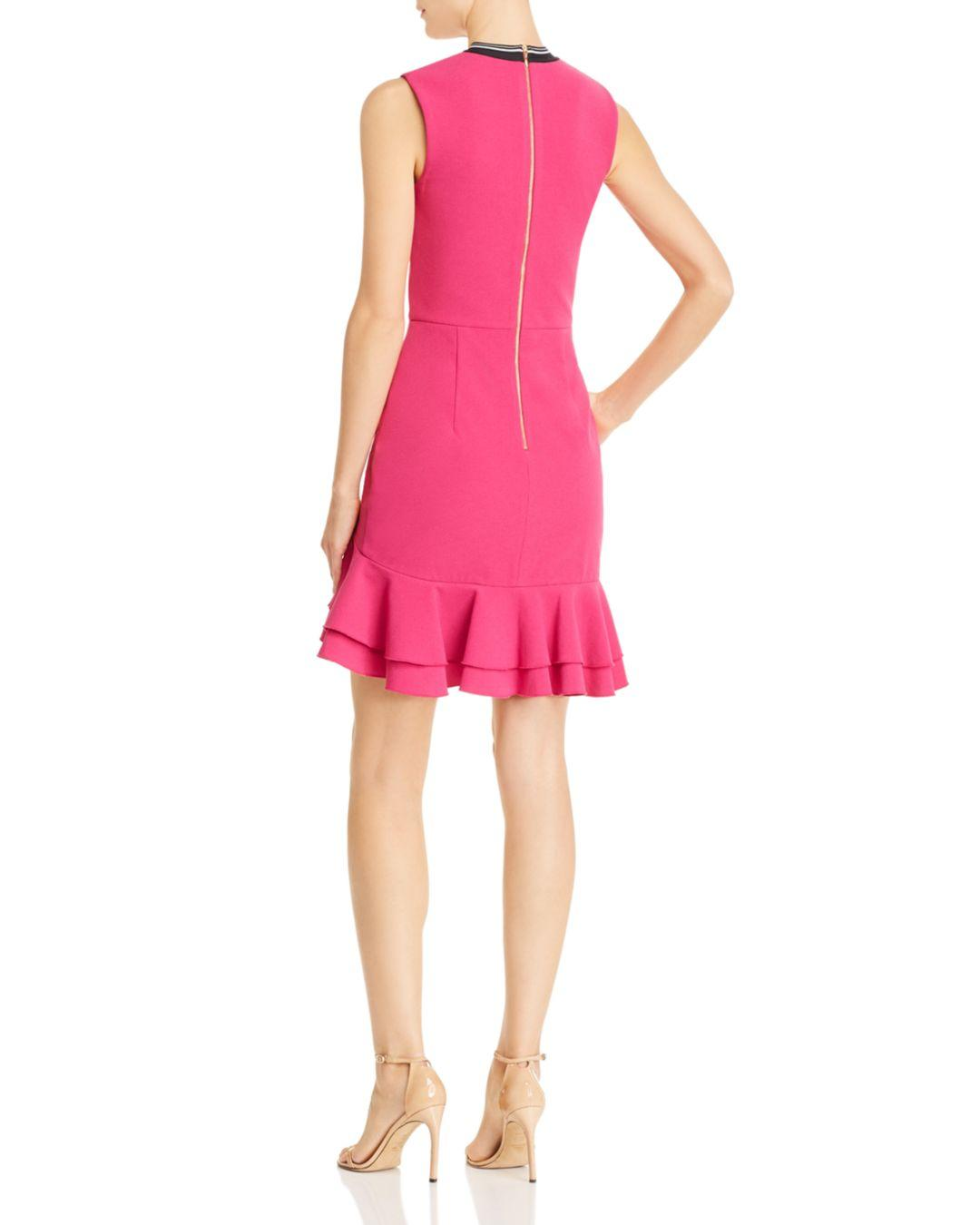 b5c423b2f93 Rebecca Vallance Delilah Ruffled Mini Dress in Pink - Lyst