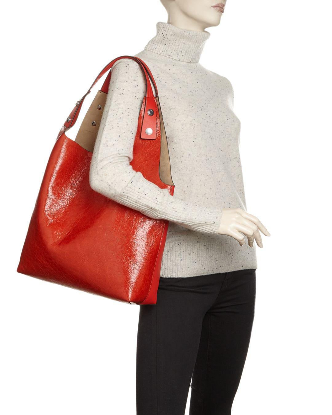 768c338b0be Lyst - Tory Burch Rory Leather Tote in Red