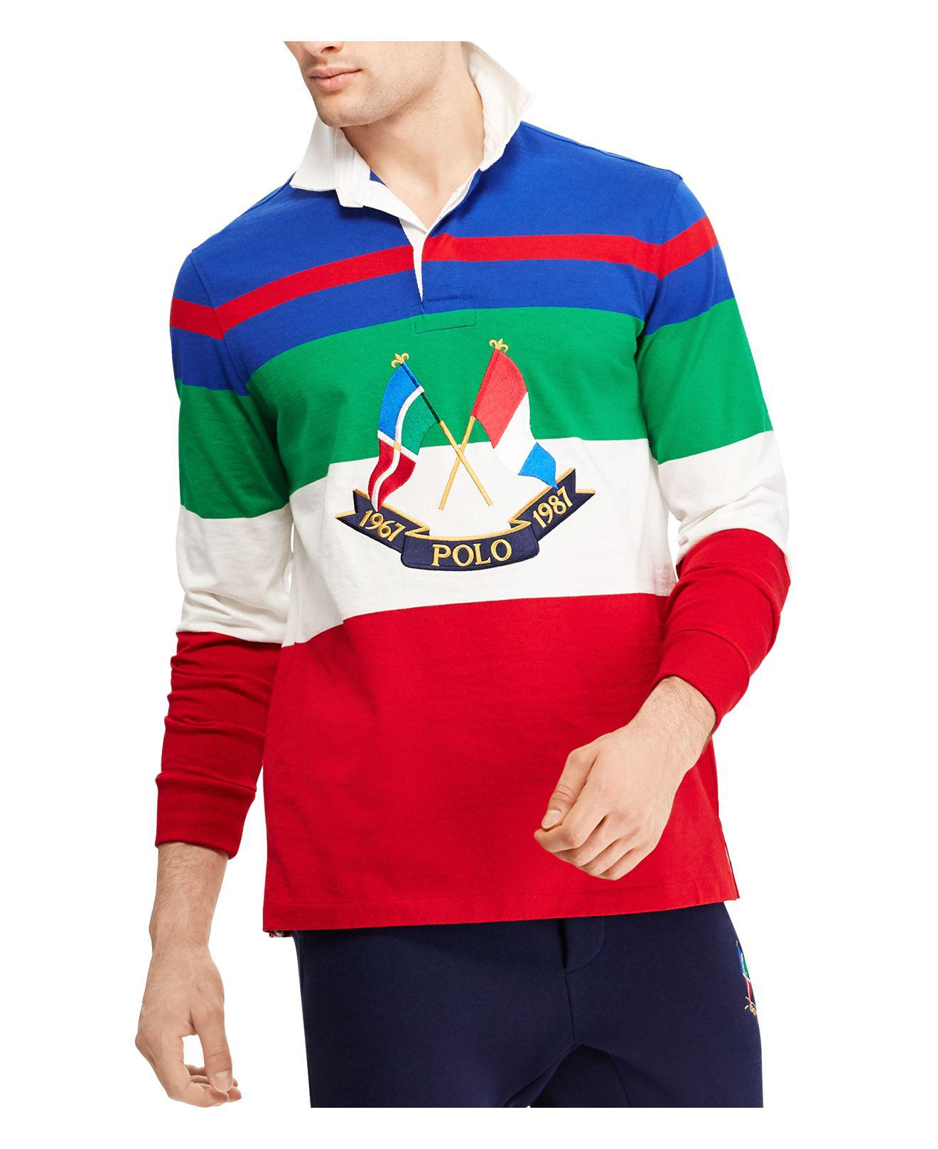 ba4a6479c32e Lyst - Polo Ralph Lauren Cp-93 Classic Fit Graphic Rugby Shirt in ...
