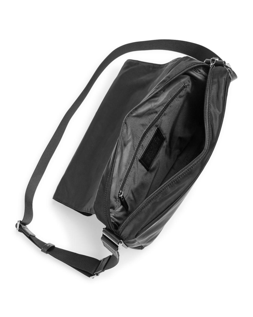 83492ddcebdd Michael Kors Kent Nylon Messenger Bag in Black for Men - Lyst
