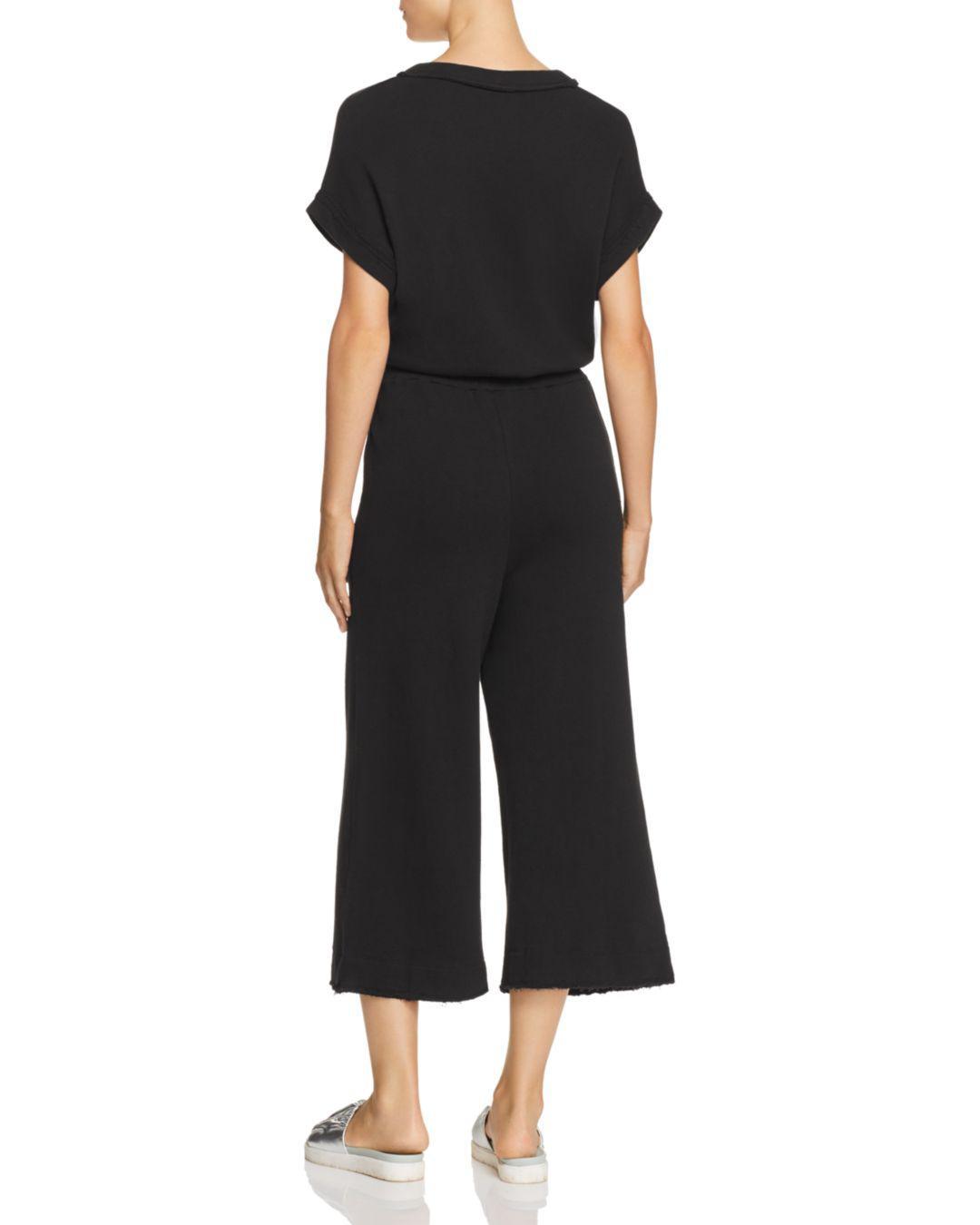 daa093bb8985 Lyst - Splendid Cropped Wide-leg Jumpsuit in Black