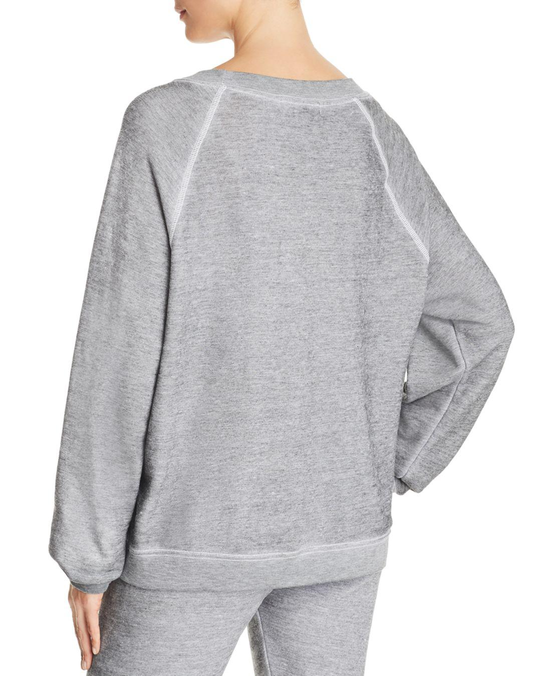 b8dc6b8b15bf1 Lyst - Wildfox Tartan Heart Sweatshirt in Gray