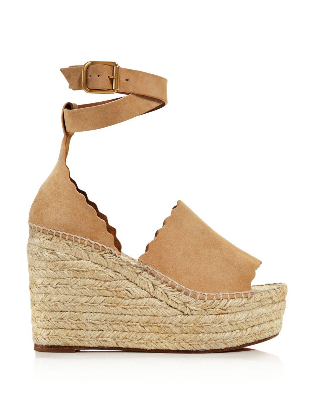 94733ba4f39 Lyst - Chloé Women s Lauren Espadrille Platform Wedge Sandals