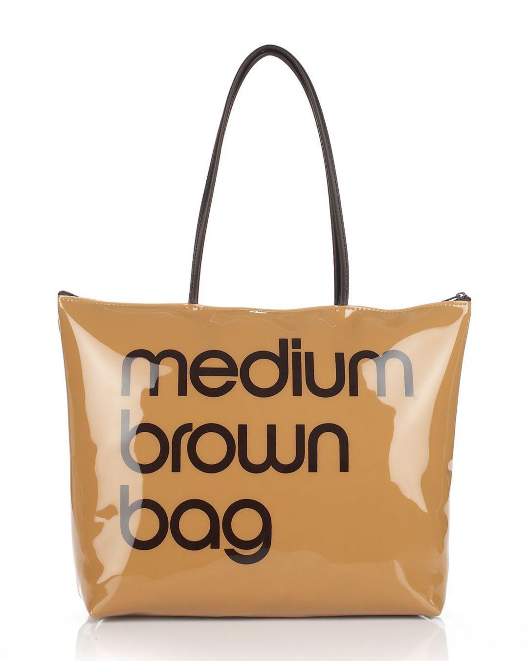 Bloomingdale S Zip Top Medium Brown Bag in Brown - Lyst 0cf3d23300
