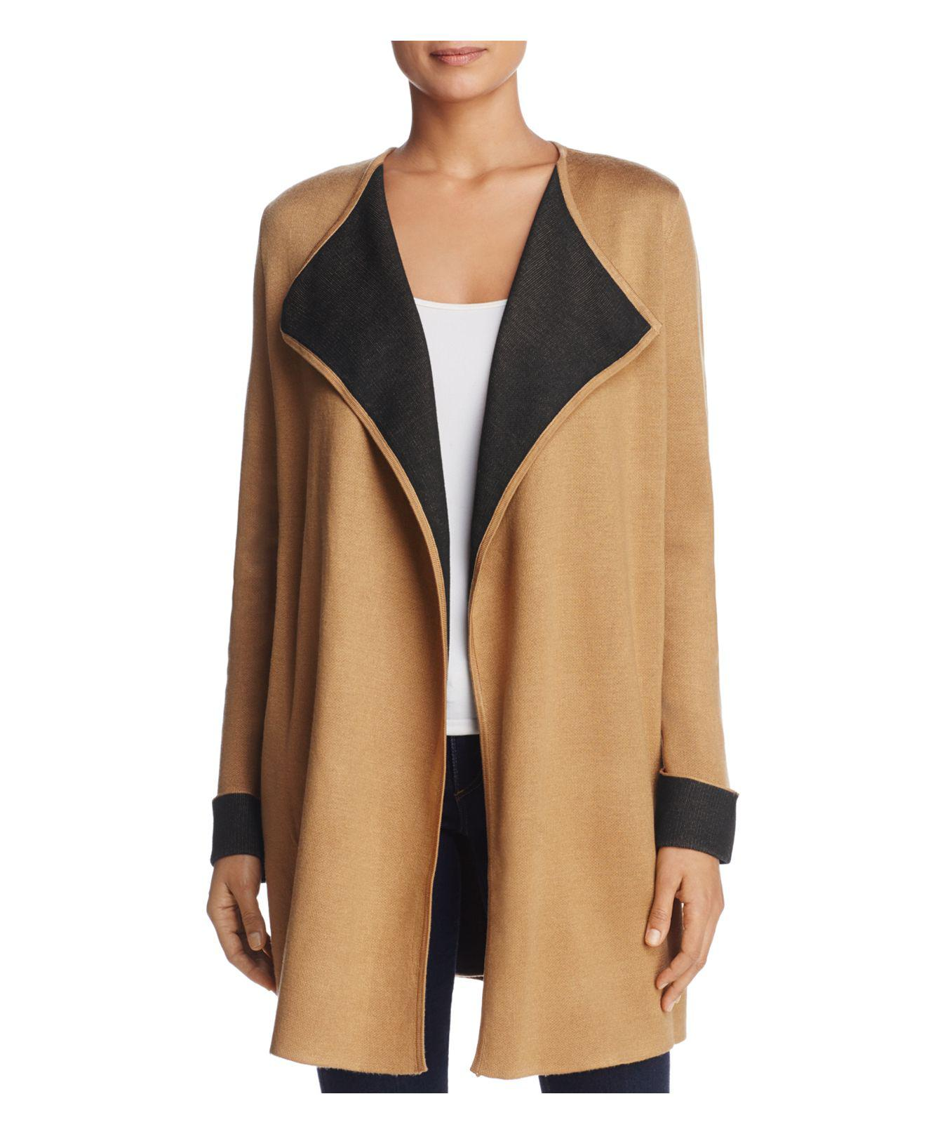 modli drapes draped cardigan rust sweater