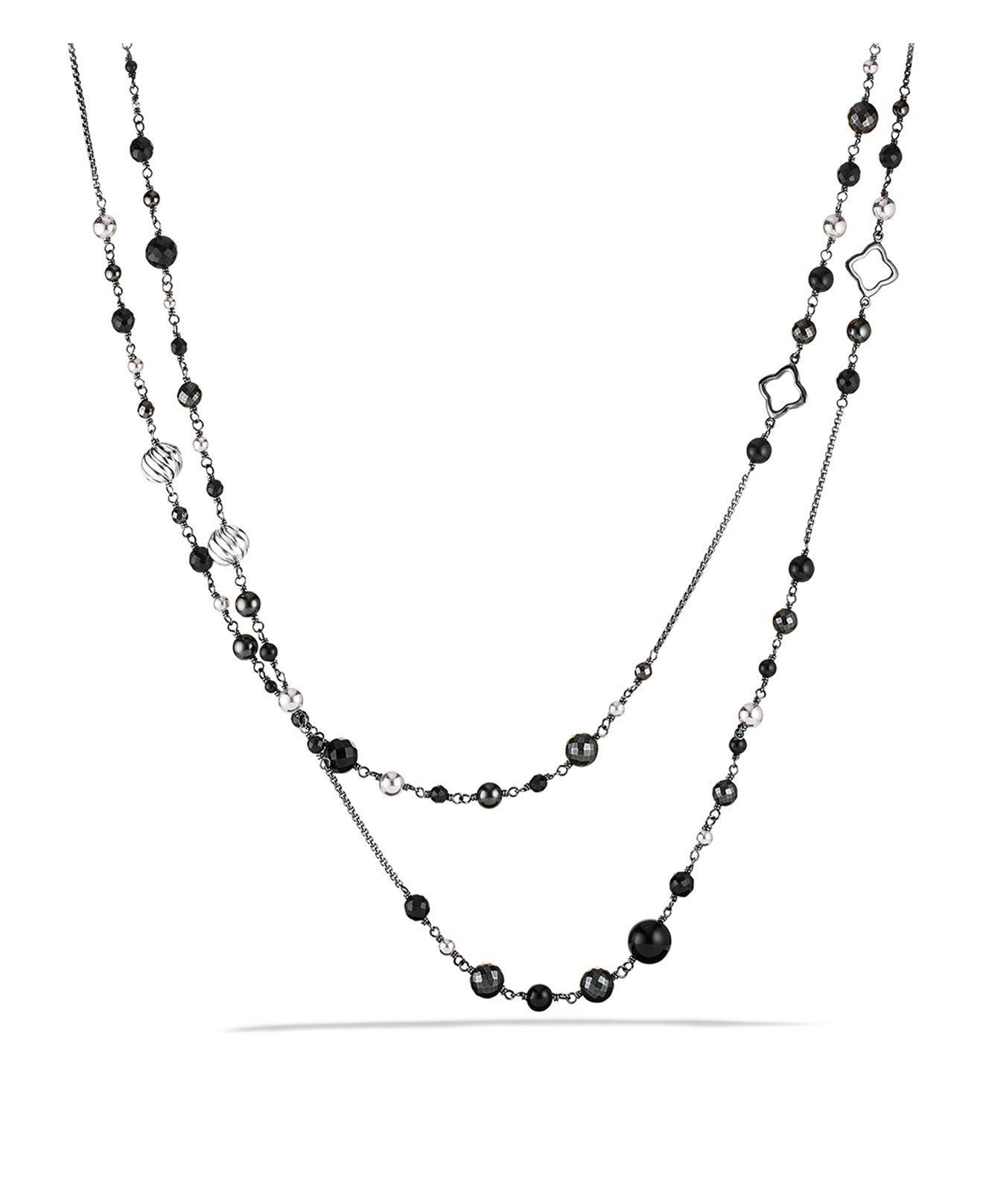 David Yurman Osetra Multi-Strand Hematine Necklace euMnQNkK
