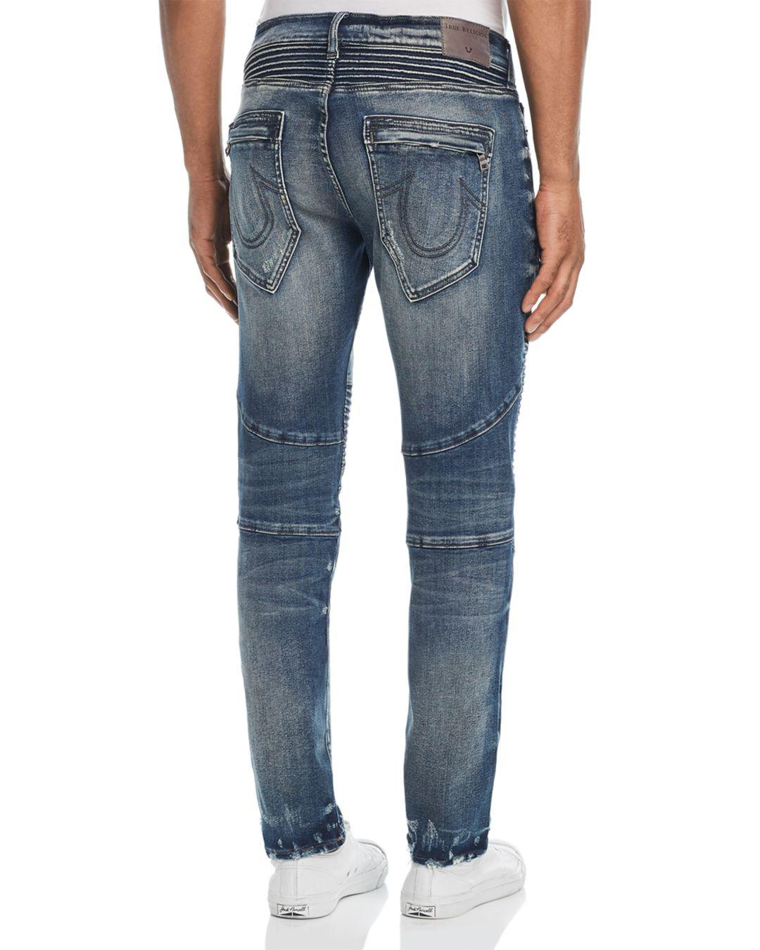Fit In Religion Rocco Blue True Moto Slim Jeans For Combat MzVSUqpG