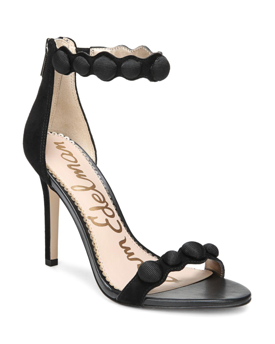 229a2785449 Sam Edelman Women s Addison Suede High-heel Ankle Strap Sandals in ...