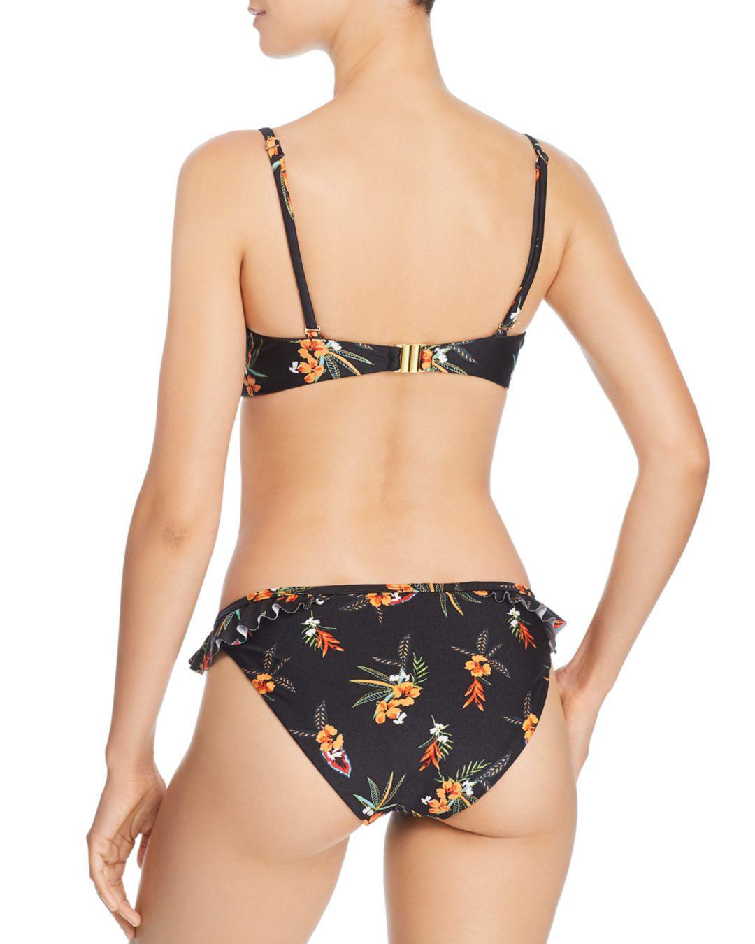 b20b119b3595e Lyst - MINKPINK Sunkissed Frill Bikini Bottom in Black