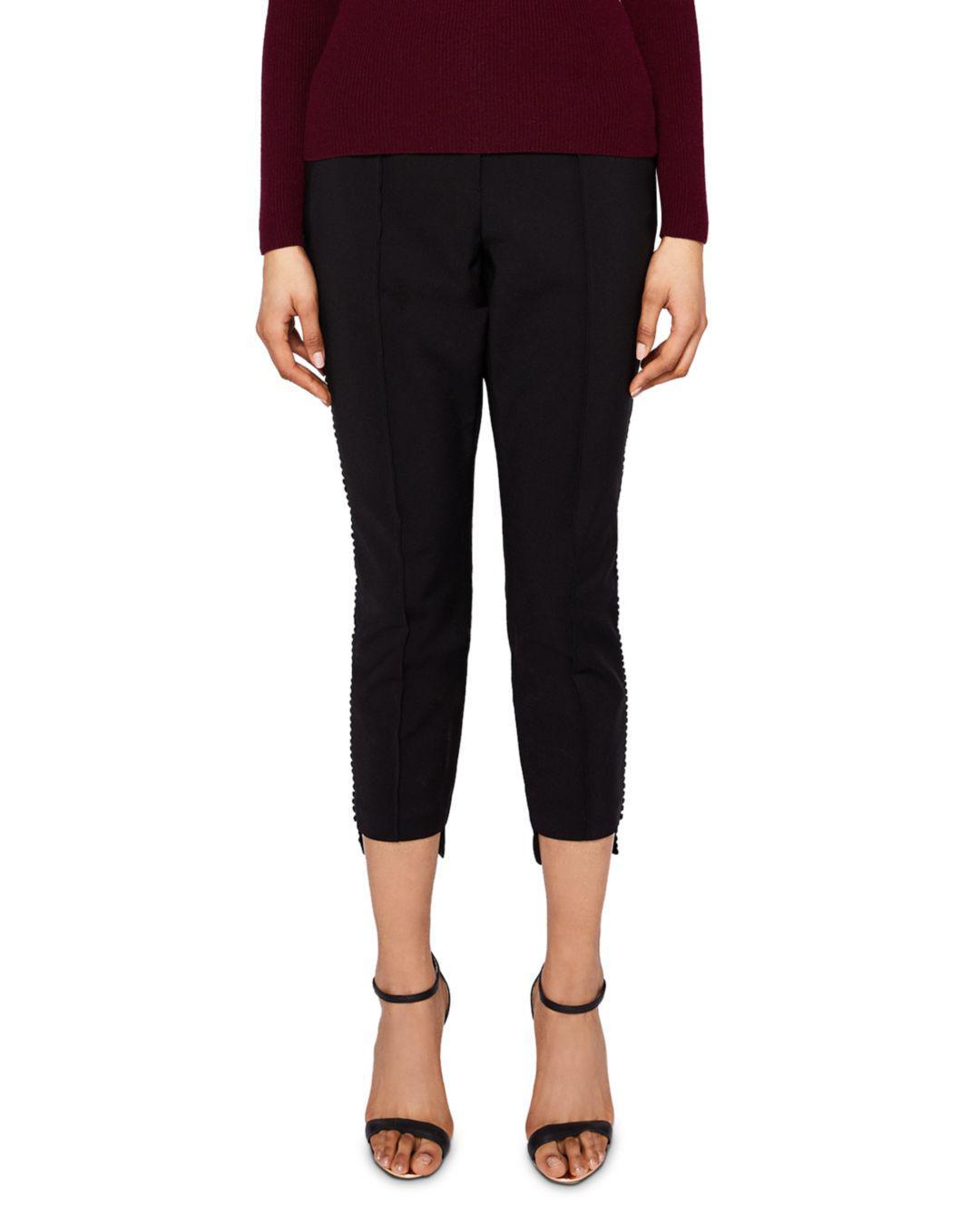4c774610405418 Lyst - Ted Baker Anett Seam-detail Pants in Black