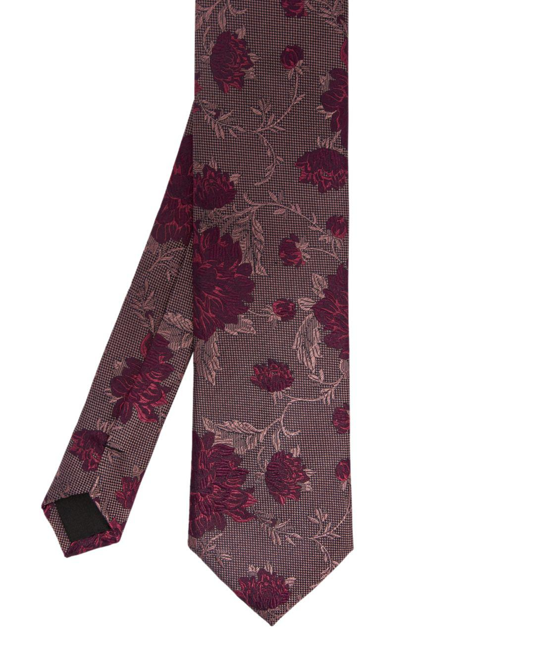 10f89250 Lyst - Ted Baker Floral Jacquard Silk Tie in Pink for Men - Save ...
