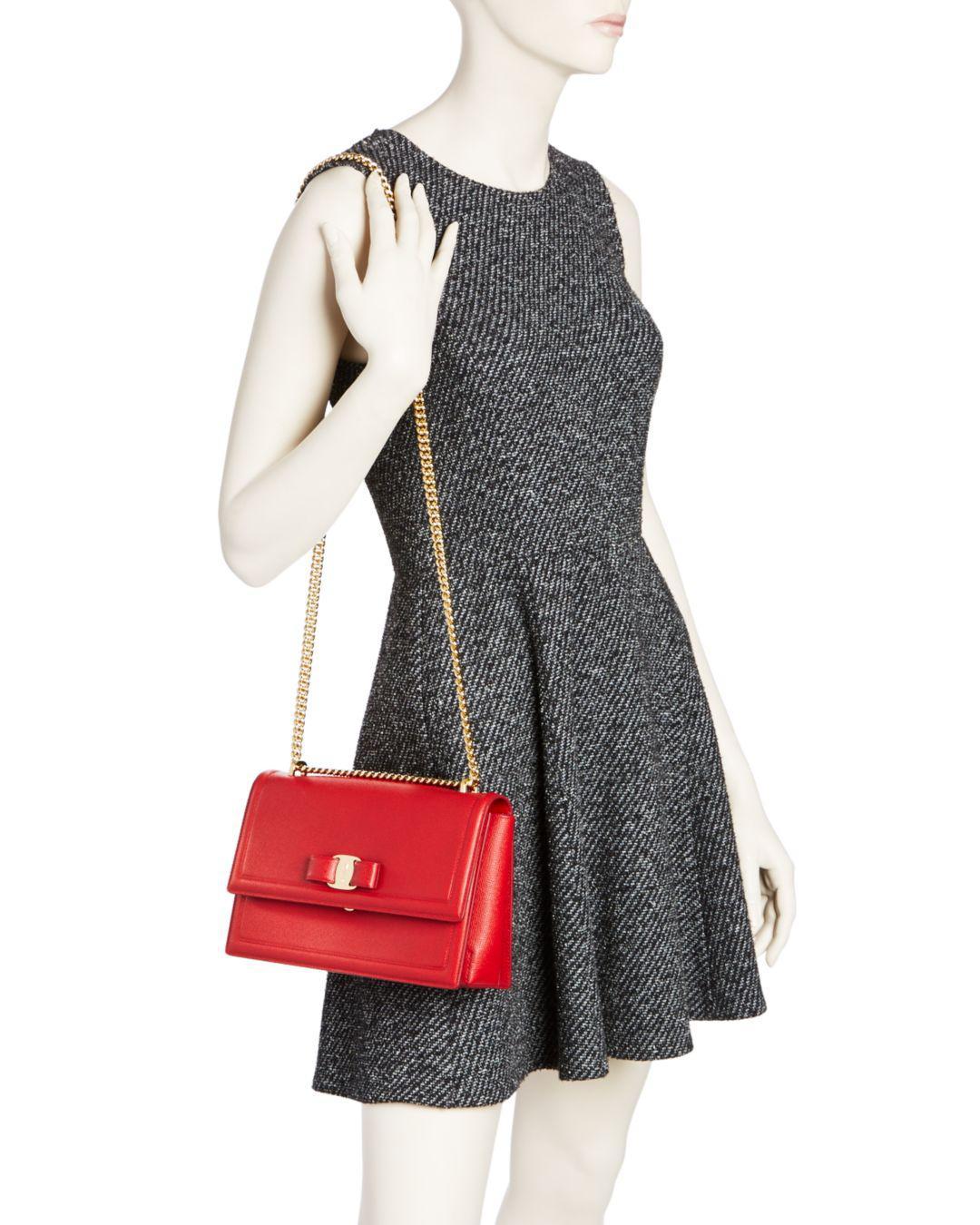 Lyst - Ferragamo Ginny Medium Saffiano Leather Shoulder Bag 99c1e295c473e