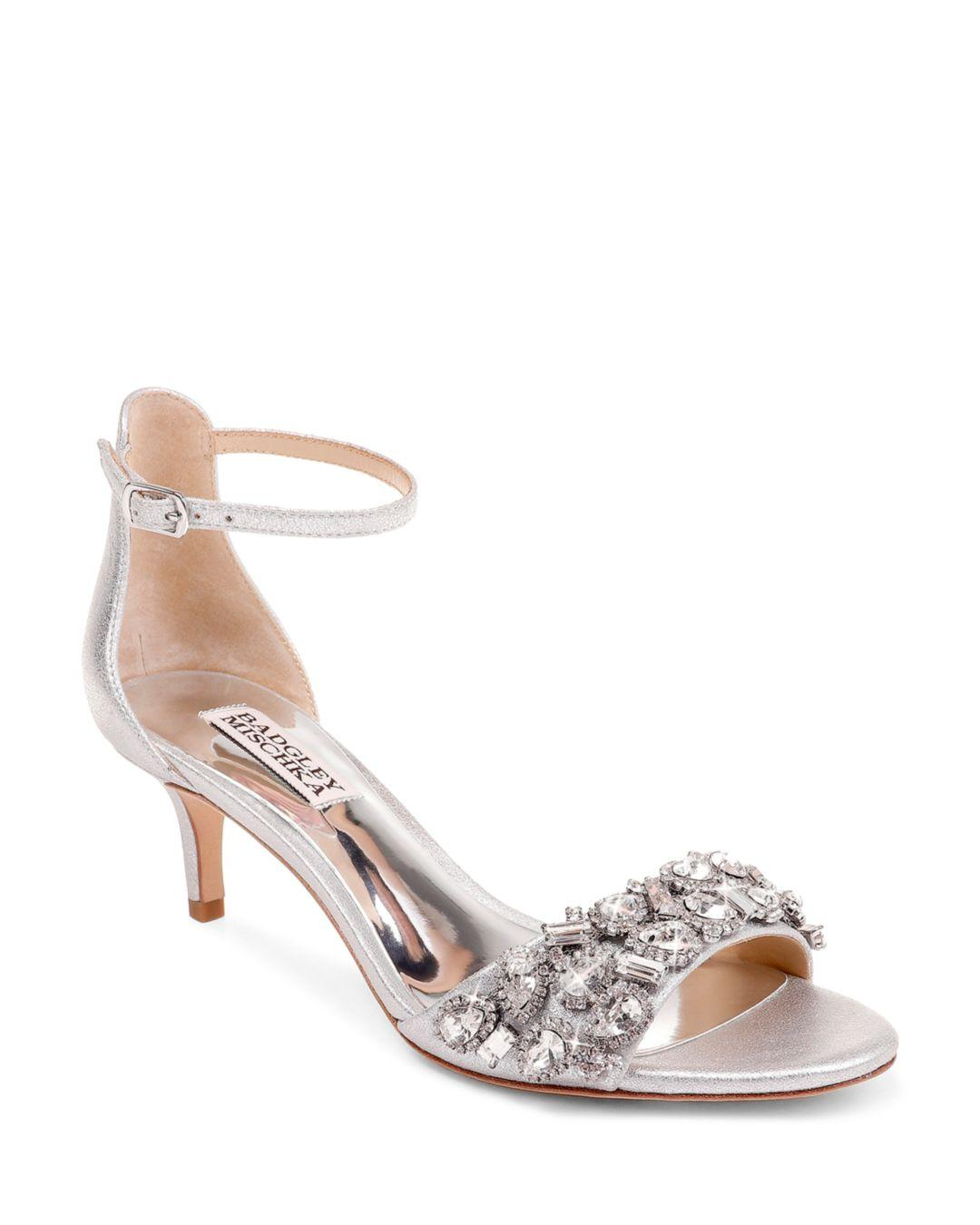 9970efbdb6f Lyst - Badgley Mischka Women s Lara Ii Embellished High-heel Sandals ...