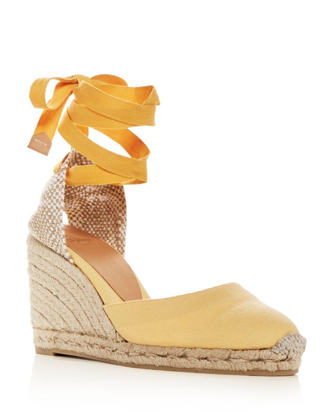 9341304e0b7d Lyst - Castaner Women s Ankle-tie Wedge Platform Espadrille Sandals