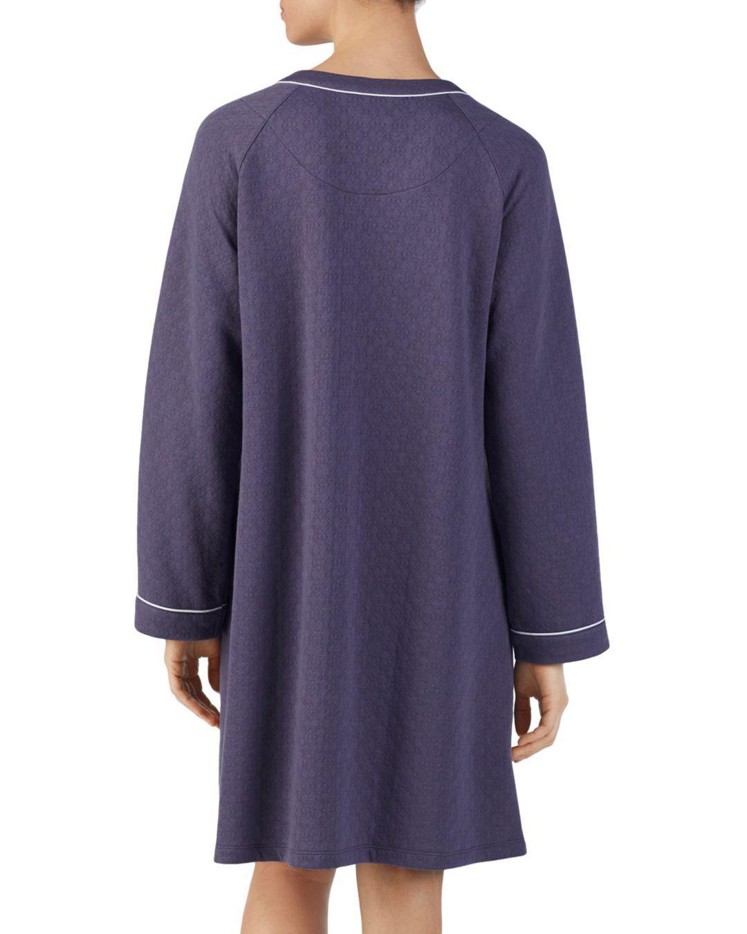1cff615cea Eileen West Short Matelasse Zip Robe in Gray - Lyst