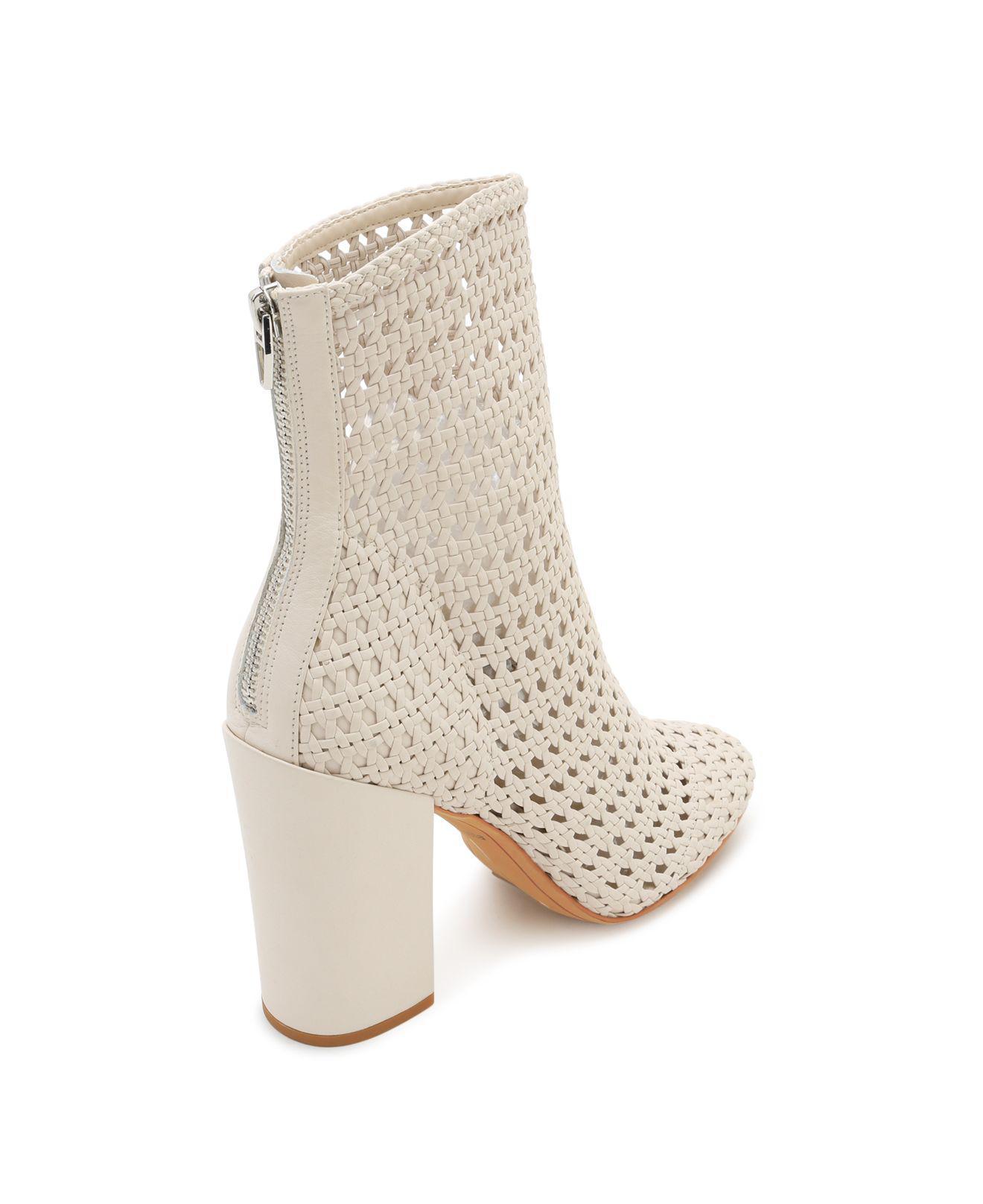Dolce Vita Women's Woven Leather Block Heel Booties JGd4c