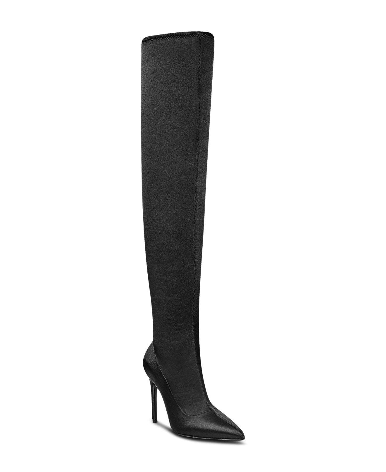 61705204751 Lyst - Kendall + Kylie Women s Anabel Satin Over-the-knee Boots in Black