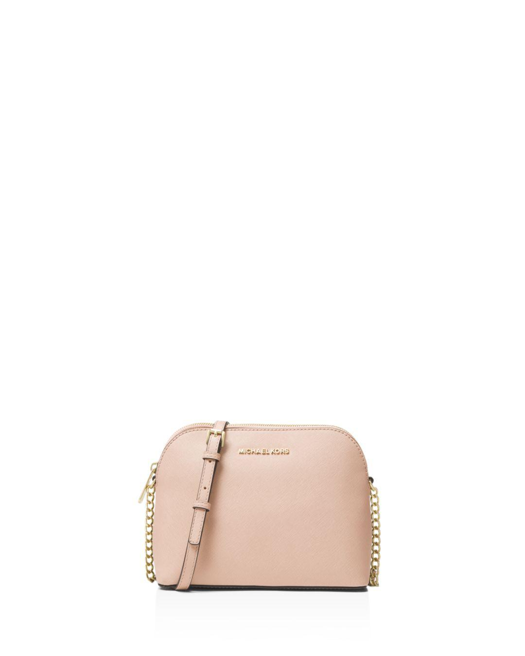 20e18e810892e Lyst - MICHAEL Michael Kors Cindy Large Dome Crossbody in Pink