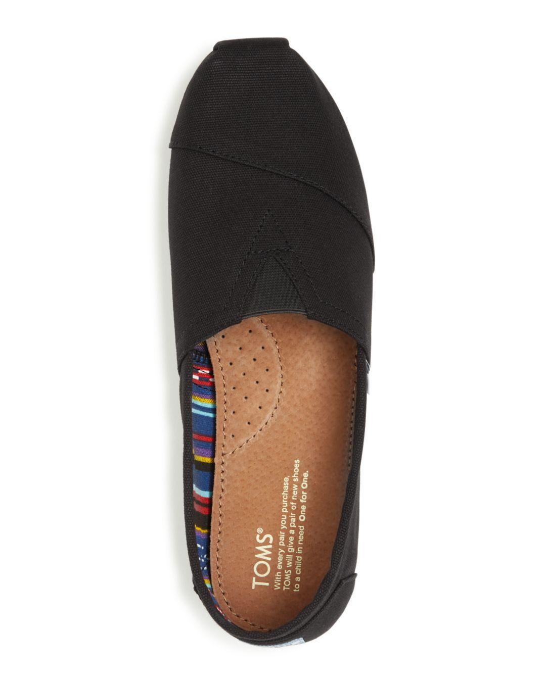 3171ceddc6d TOMS Men s Classic Canvas Slip-ons in Black for Men - Save 40% - Lyst