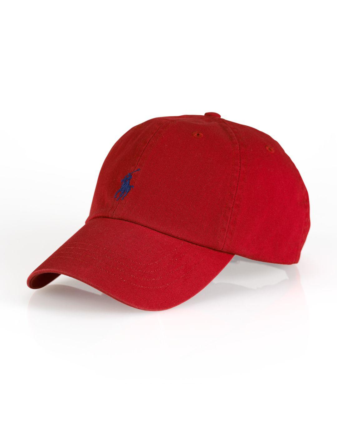 856ae00f861 Lyst - Polo Ralph Lauren Signature Pony Hat in Red for Men - Save 33%