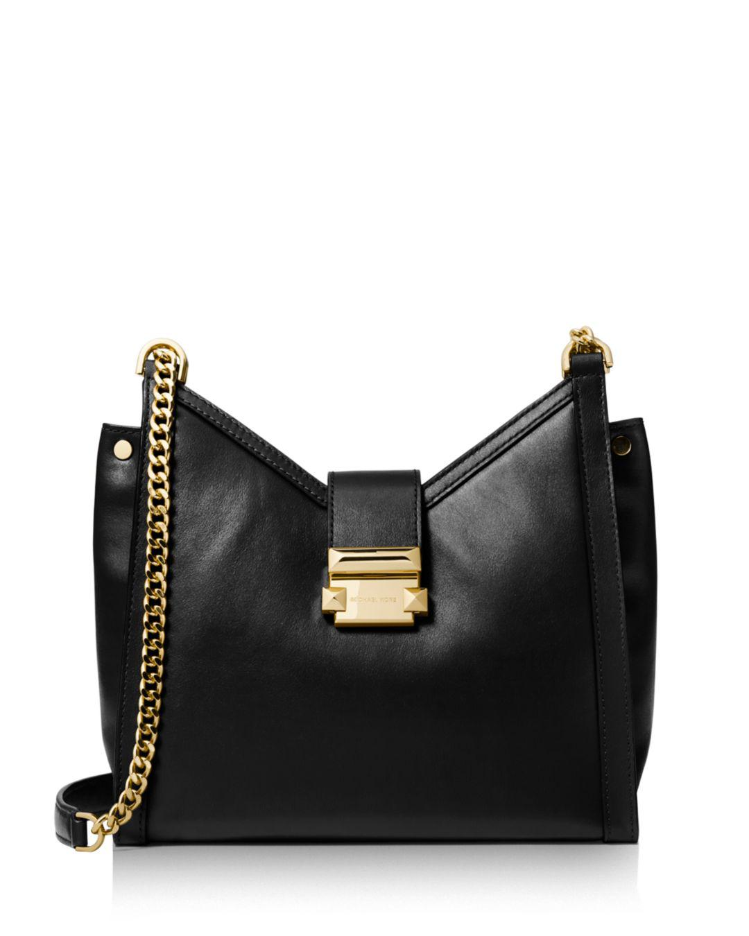 b1a3a1f0fc56 Lyst - MICHAEL Michael Kors Whitney Small Chain Shoulder Tote in Black