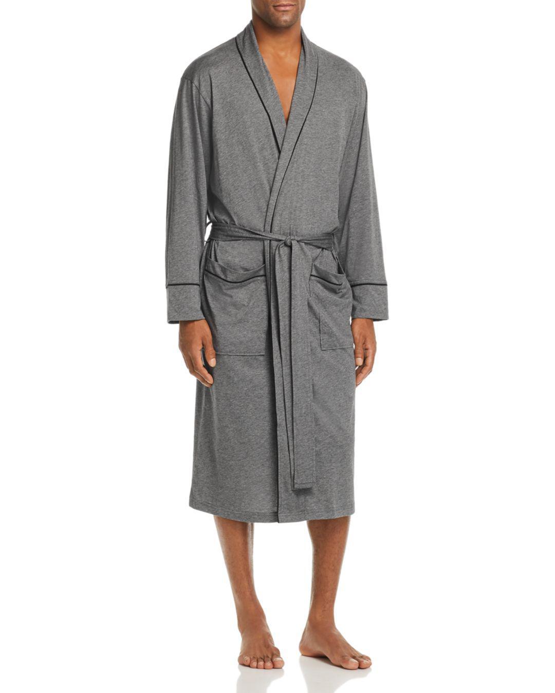 Daniel Buchler Contrast-piped Cotton Robe in Gray for Men - Lyst 1404420e3
