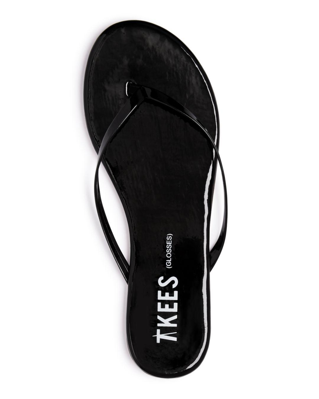 a461ec4d94ecb Lyst - TKEES Women's Glosses Patent Leather Flip-flops in Black - Save 40%