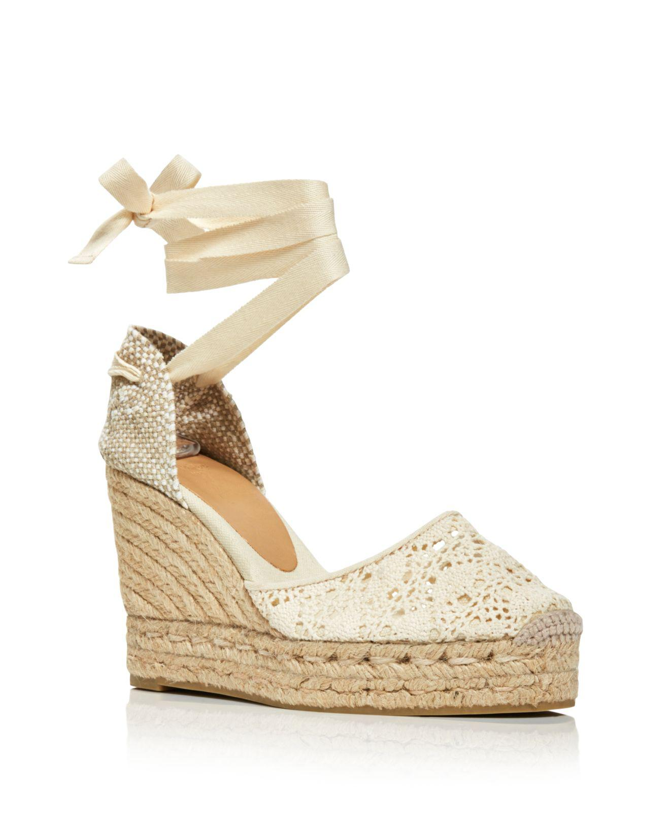 Castaner Women's Lula Ankle Tie Platform Wedge Espadrille Sandals Aaa Quality Discount Clearance 2018 New Clearance Online Fake hasXNk
