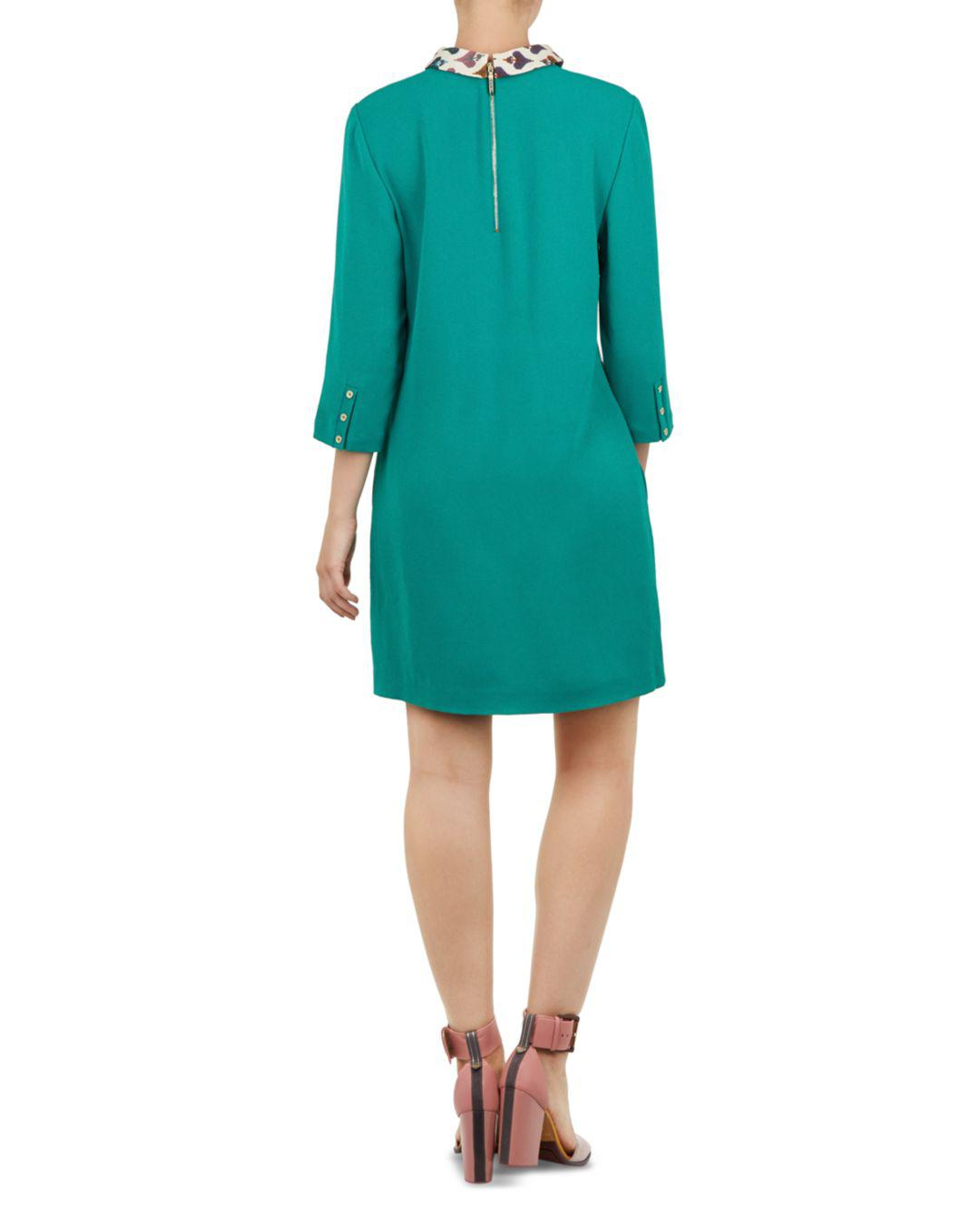 Lyst - Ted Baker Colour By Numbers Spineli Shift Dress in Green