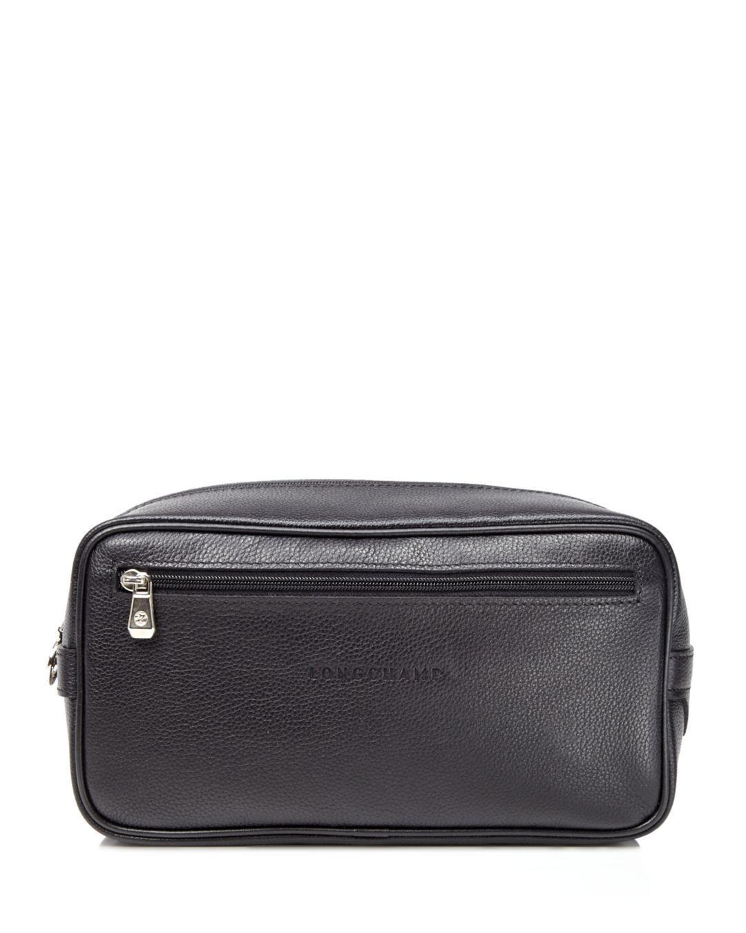 3ce6798eca763 Lyst - Longchamp Le Foulonné Toiletry Kit in Black for Men