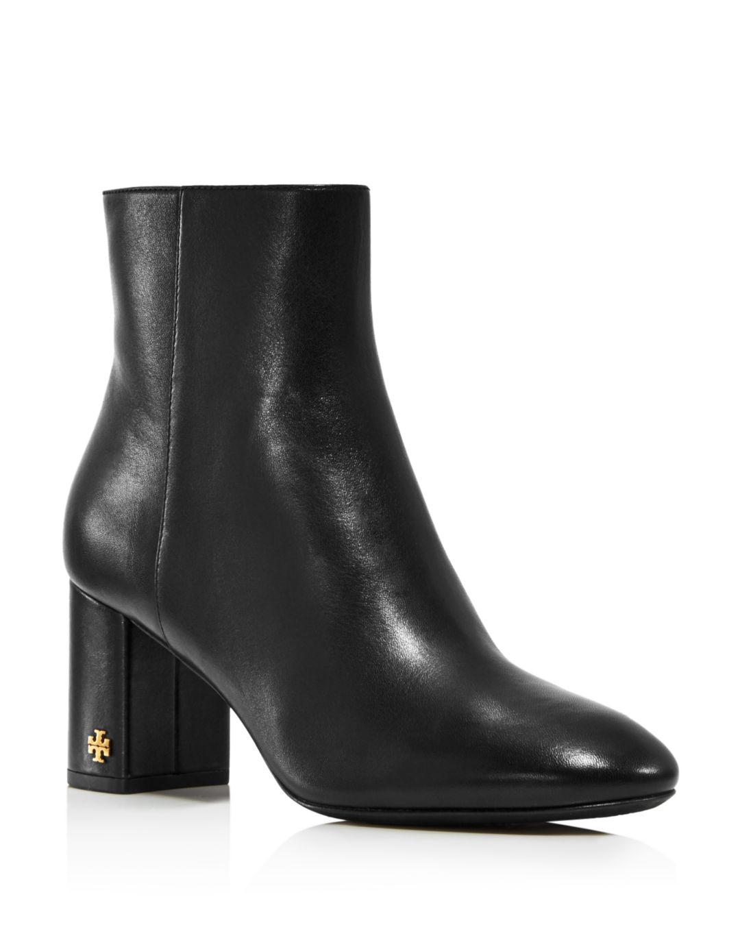 0a6fc03da Lyst - Tory Burch Women s Brooke Round Toe Leather Booties in Black