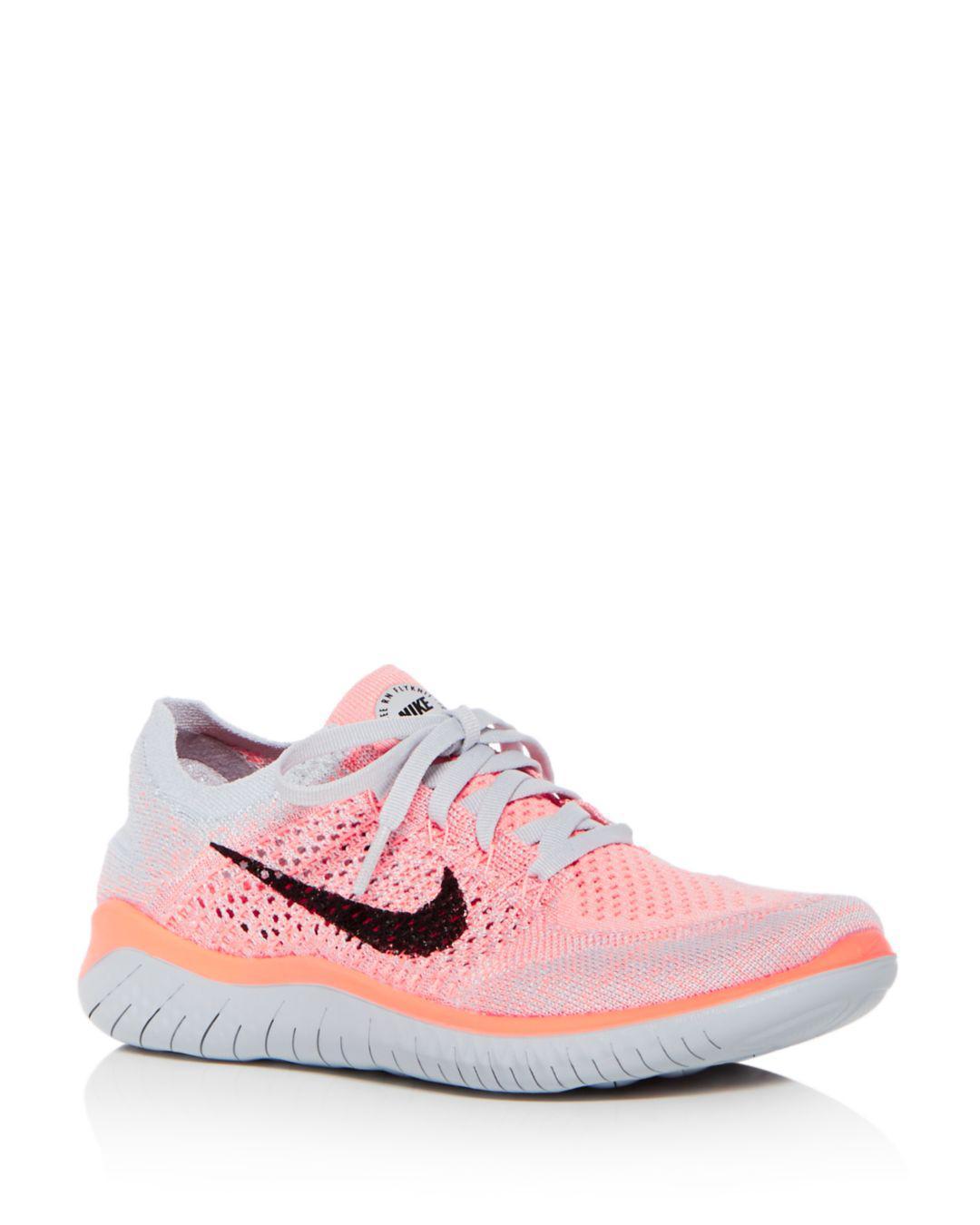 73146e9c8b9e Lyst - Nike Women s Free Rn Flyknit 2018 Lace Up Sneakers