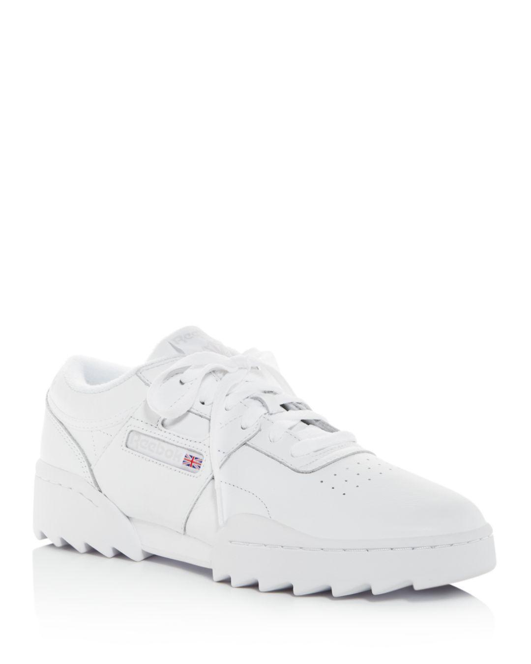 45689d6b909 Reebok Women s Workout Ripple Og Low-top Sneakers in White - Lyst
